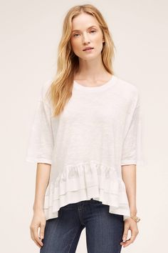 Cascade Peplum Top via Anthropologie