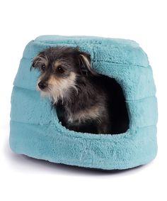 Teal Honeycomb 2-in-1 Hut Pet Bed