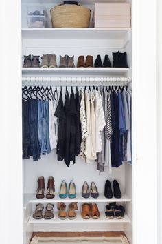 Closet makeover - Design, organization and styling by Shira Gill. www.shiragill.com