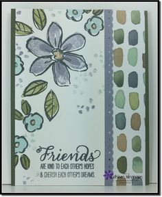 Just Because card made with the Garden in Bloom stamp set from Stampin Up by Kathleen Wingerson   http://www.kathleenstamps.com/