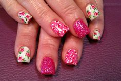 Light Elegance gel: Pretty in Pink theme nail art