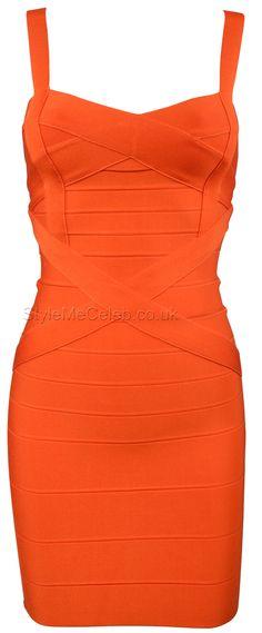 'Auroral' Cross Front Bandage Dress