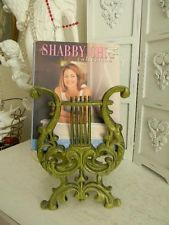 OMG!~Mid Centry~Retro Cast Metal Lyre/Harp Magazine or Book Holder~Avacado Green Magazine Stand, Magazine Holders, Magazine Rack, Bookends, Shabby, Retro, Antiques, Ebay, Vintage