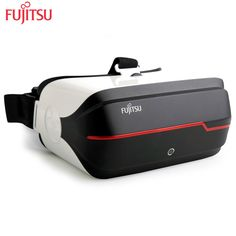 Fujitsu Original FV200 3D VR Glasses Virtual Reality Immersive Stereo speaker with Bluetooth Wifi 128GB Lens coated with film