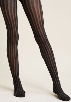 Dancing Delight Ribbed Modal Tights in Noir