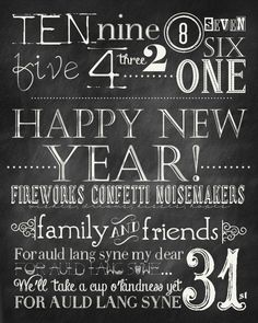 Free New Years Printable by the36thavenue.com