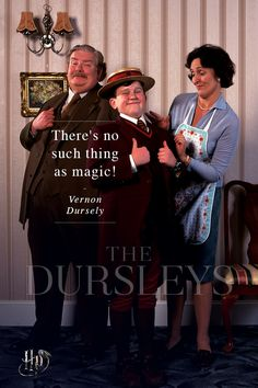 The only known living close relatives of Harry Potter, a Muggle family named Dursleys.  | The families of Harry Potter