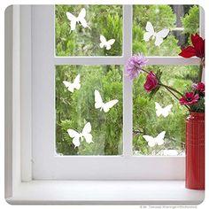 Fensterbild Schmetterlinge Fenstertattoo Fenstersticker Dekoration für Fenster FolienKreativ http://www.amazon.de/dp/B00I3YOB3C/ref=cm_sw_r_pi_dp_d.Tfub1839BSD