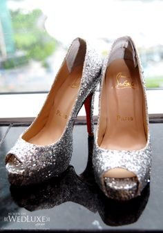Sparkly High heeled shoes. :D