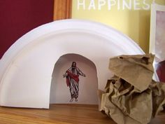 Fun Easter Ideas for Teaching Kids About Jesus: Paper Plate Tomb Craft