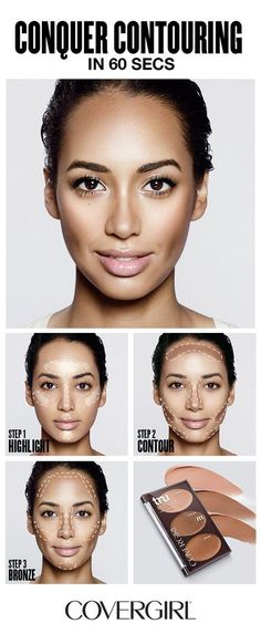 COVERGIRL shows you how to contour your face in 60 seconds! Follow COVERGIRL'S step-by-step contouring tutorial using our truBLEND Contour Palette and learn to highlight, contour and bronze your face in 60 seconds. Great for beginners! Follow this simple contouring guide and learn to contour like a pro. #contouringmakeup
