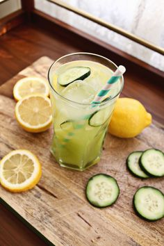 Cucumber Gin Lemonade | A Beautiful Mess + west elm