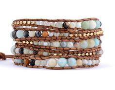 Amazonite Wrap Bracelet - Carolyn Jane's Jewelry - 1
