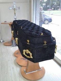black velvet coffin