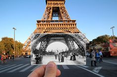 I Combined Old And New Photos Of Paris To Bring History To Life | Bored Panda