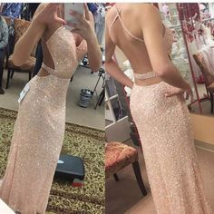 sparkle Prom Dresses,backless prom dress,sexy prom Dress,long prom dress,pink evening gown,BD2423