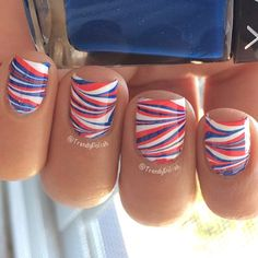 Patriotic nails. (by @trendypolish on IG)