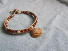 Sea Shell and Beaded Hemp Bracelet with Natural by FruFruDesign, $15.00
