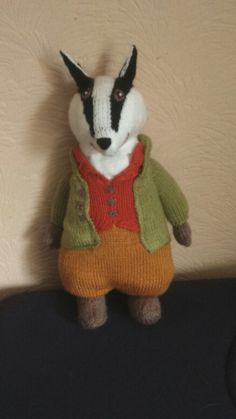 Tommy Brock, Beatrix Potter's badger - Alan Dart pattern