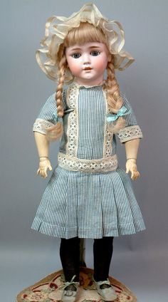 "Beyond Gorgeous 25"" Schoenau Hoffmeister 5800 Antique Doll Antique Outfit 