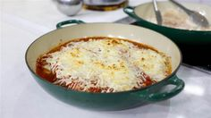 Make a healthy Italian meal with this lightened-up chicken parmesan