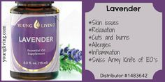 Young Living Essential Oil - Lavender https://www.youngliving.com/signup/?site=US&sponsorid=1483642&enrollerid=1483642