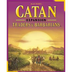 This is the Settlers of Catan Traders and Barbarians Board Game Expansion by Mayfair games. Players are recent immigrants to the newly populated island of Catan. Expand your colony through the buildin