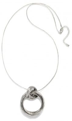 Interlocking Link Silver Pendant Necklace | Capwell