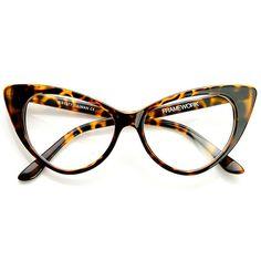 1a5e56ece TWIGGY Cat Eye Retro Clear Frames in Havana at FLYJANE Lente De Aumento,  Gafas Mujer