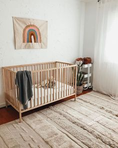 Ciara over at is expecting another little one. She was able to work our natural coloured washable rug into her baby's nursery adding warmth and comfort. Love the neutral colour palette and the XL size fits perfectly! Lorena Canals, Washable Rugs, Neutral Colour Palette, One Bedroom, Colour Schemes, Nursery Decor, Cribs, Baby, Furniture