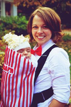 DIY Kids Halloween Costumes- bag of popcorn