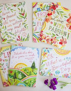 5x7 Greeting Card Set Live The Life You've by thewheatfield
