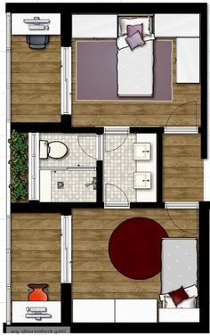 Ideas bedroom design layout floor plans master suite for 2019 Layouts Casa, Bedroom Layouts, House Layouts, Green Bed Sheets, Tiny Apartments, Green Bedding, Home Trends, House Beds, Suites