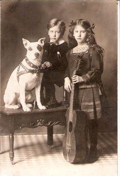 guitar, children, and dog | by Animal Farm Foundation2012