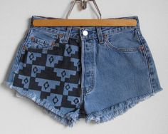 Vintage Levi's High Waisted Button Fly Aztec Print by HighWasted, $44.00