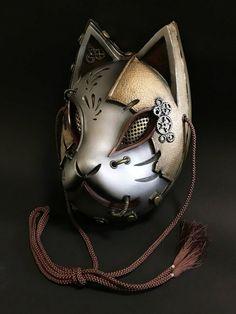 (銀×金) – From Parts Unknown Japanese Fox Mask, Character Art, Character Design, Steampunk, Cool Masks, Masks Art, Metal Artwork, Japan Art, Diy Arts And Crafts
