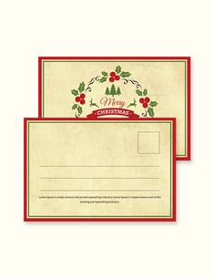 postcard template simple christmas easily editable printable in photoshop ms word publisher pages