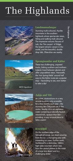 Highlights of the Highlands of Iceland - discover more in our new Iceland & Greenland brochure here: http://view.intellimag.com/go/dtw-iceland-greenland/