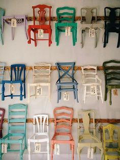 Chairs. Costa Mesa, California. | madebyjames | VSCO Grid - i kinda want some of these chairs. Good diy project. #VintageChair