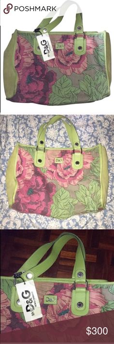 Dolce & Gabbana Vintage Floral Purse Bag & Wallet Dolce & Gabbana Vintage Floral Purse Bag & Wallet🔹New with tags D&G bag. Floral print canvas, with side suede panels. Inside is lined with silk. Store returned item, which is a bit dirty but can easily be cleaned. Please review photos as they are the best descriptors of the bag and condition. Retails for $395 🌟Also included Wallet Pouch 🌟No Trades🌟 Offers Welcomed 🌟 Dolce & Gabbana Bags