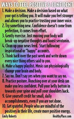 Positivity ideas, for those days when they might come in handy