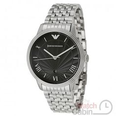 Emporio Armani Men s Watch - It is crafted from premium stainless steel and  showcases a black dial with Roman numerals 2065b32bcf