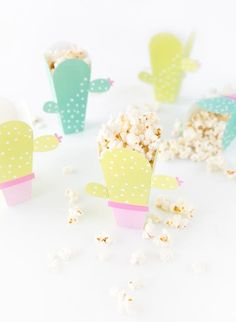 Start the summer off with a classic flick + these cute DIY cactus popcorn boxes.