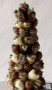 Chocolate Covered Strawberry Tower -