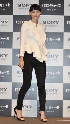 Rooney Mara at the Japanese photocall of The Girl with the Dragon Tattoo, January 30th