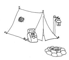 8 best c ing tent decorations images tent c ing c site c ing Nissan Titan Tent c ing c ing tent and c fire coloring page