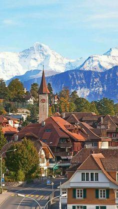 In peaceful Interlaken, Switzerland. switzerland Travel Для получения информации посетите наш сайт http://storelatina.com/switzerland/travelling #suiça #vacaciones #viajesuiça #switzerlandfood