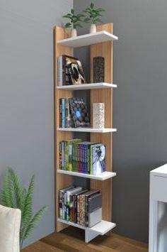 Endizayn Alis Kitaplık-Beyaz Teak