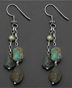 Idea for Mom...pretty Wire Jewelry, Jewelry Crafts, Jewelry Art, Beaded Jewelry, Vintage Jewelry, Jewelry Design, Boho Earrings, Earrings Handmade, Artisan Jewelry