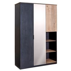 Our solidly simple 3 door boys wardrobe is a blend of traditional style with a contemporary flair. Create a teen bedroom decor infused with durability and maximum storage with our modern boys wardrobe. Bedroom Closet Design, Wardrobe Design, Bedroom Decor, Tall Cabinet Storage, Locker Storage, Childrens Wardrobes, Multifunctional, Modern Design, Doors
